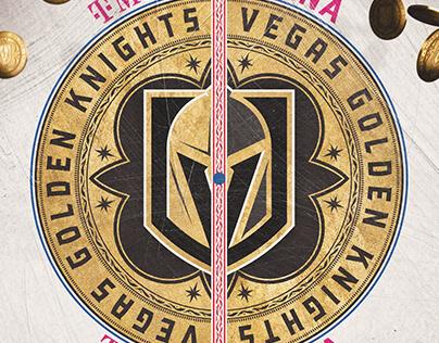 Golden Knights Center Ice Logos 2018-21
