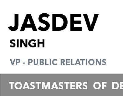 Badge Design for members of Toastmasters Of Delhi