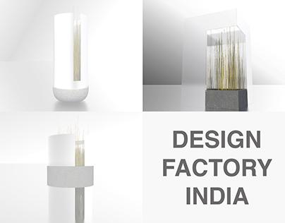 Squared vase - Internship at Design  Factory India