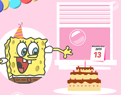 SpongeBob Birthday Card