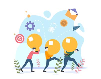 Bussiness Teamwork Illustration