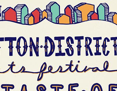Cotton District Festival Poster