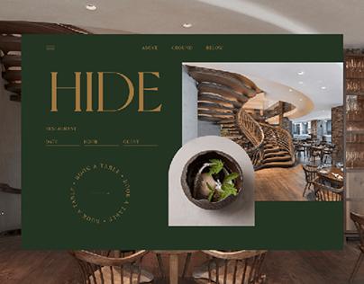 Website for restaurant Hide | Redesign concept
