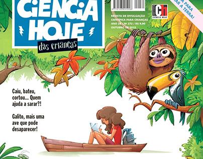 Capas para revista Ciência Hoje para Crianças