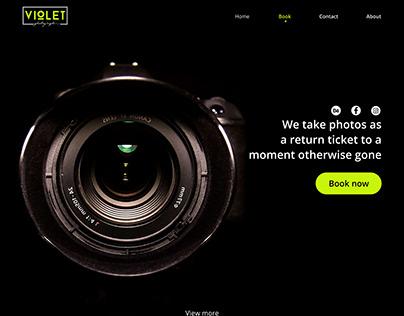 VIOLET Photography web design