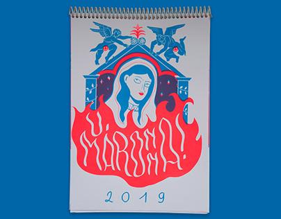 U, Maronna! Screenprinted calendar