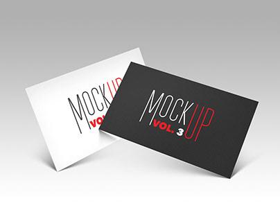 FREEBIE- Business card Mockup_vol.3