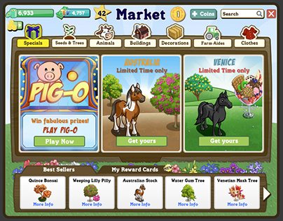 FarmVille Market Redesign (2012)