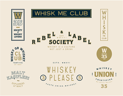 Whiskey & Whisky Club / Logoworks