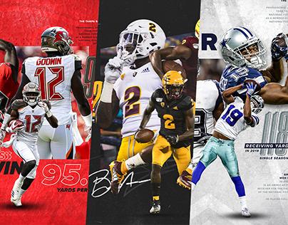 NFL Receivers | Social Graphics
