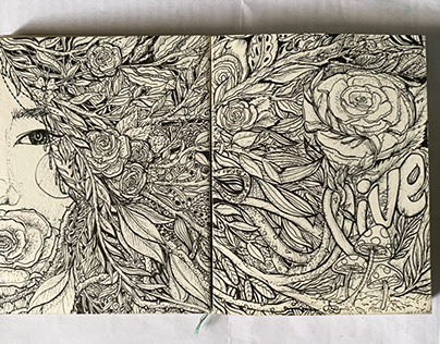 Ink drawing Illustrations