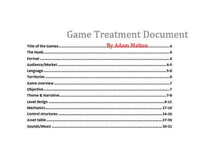 Games treatment and testing