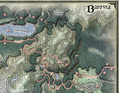 Village of Barovia Map on Behance