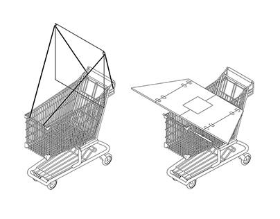Shopping cart project / art residency in Košice 2020