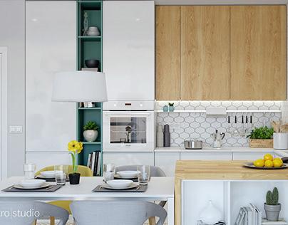 Scandy-Modern Apartment,70sq.m.