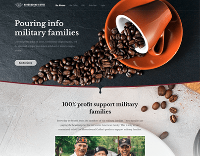 Landing page for Coffee Bussiness