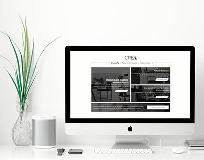 Crea Dekorasyon UI Web & Logo Tasarımı