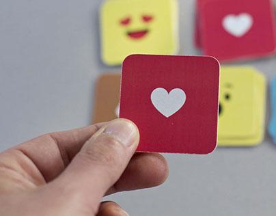 Emoji business card prototype