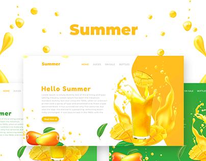 Summer & Fruit Web UI UX Design Download Free psd
