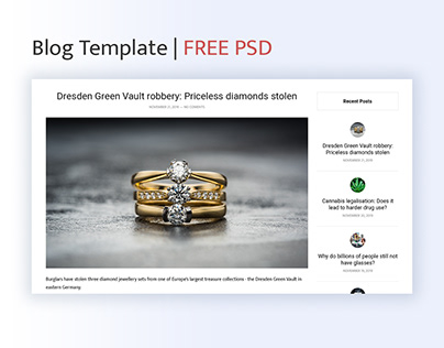 Blog Template | FREE PSD