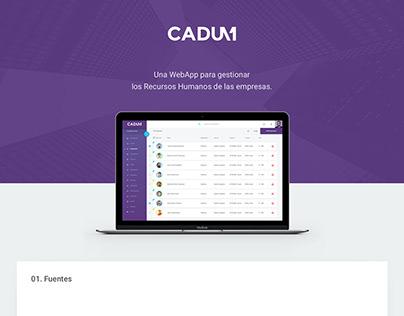 CADUM - WEBAPP