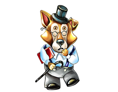 Astonished collie dog| Character design