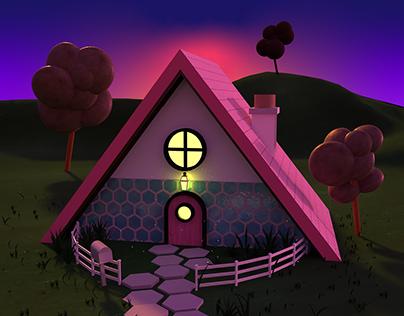 3D ILLUSTRATION: COZY HOUSE ILLUSTRATION