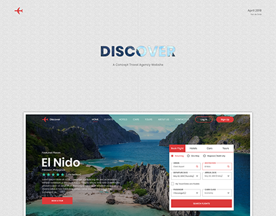 Discover (Travel Agency Web Design)