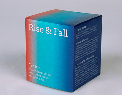 Packaging project: Rise & Fall tea