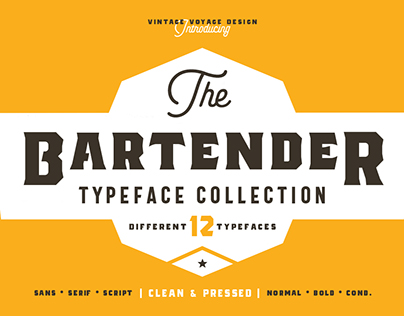 The Bartender • Typeface Collection