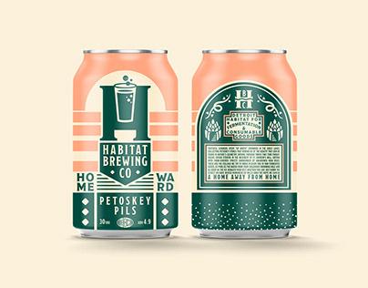 HABITAT BREWING COMPANY - branding & packaging