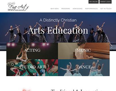 School of Fine Arts Website Preview