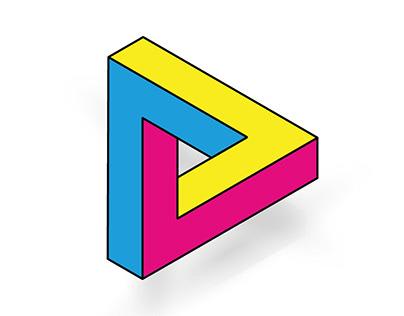 Triángulo de Penrose + CMYK