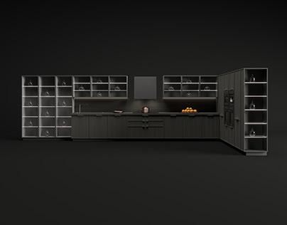 Kitchen Black Set