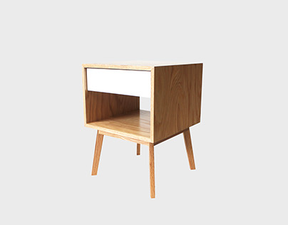 Aria drawer nightstand oak