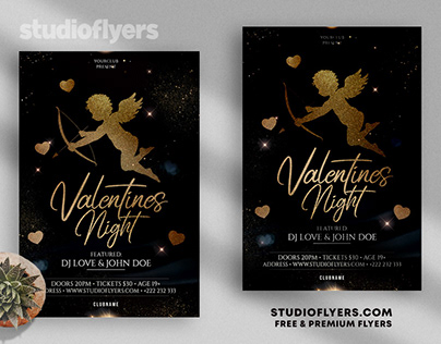 Valentine`s - Elegant PSD Flyer Template