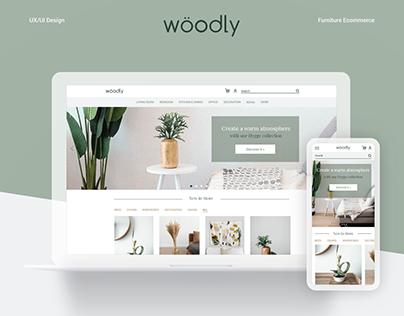 Wöodly Furniture - UX/UI Design