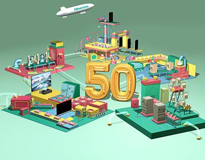 Hisense 3D visual