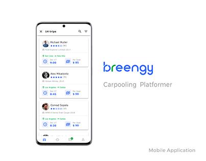 UI/UX for mobile version of carpooling platform
