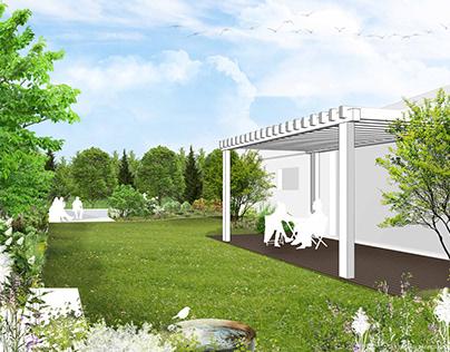 Ogród przydomowy w Józefosławiu