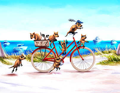 Quokka's on a Bicycle