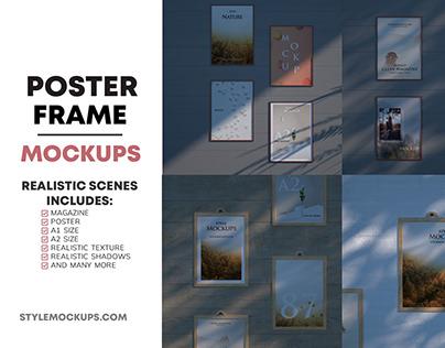 Set of Poster Frame Mockups