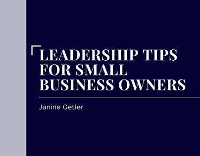 Leadership Tips For Small Business Owners