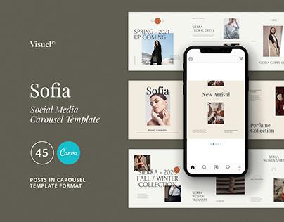 Sofia Carousel Template | CANVA & PS