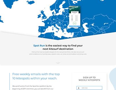 Kitesurfing Website UI