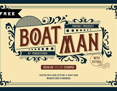 FREE | Boatman Display Font