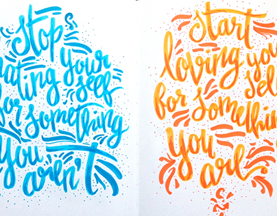 Hand Lettering Compilation | 2015 - 2016