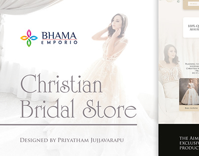 Christian Bridal Store | Landing Page