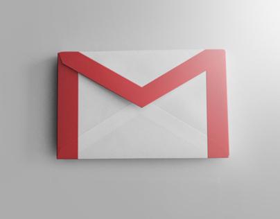 Realistic gmail icon