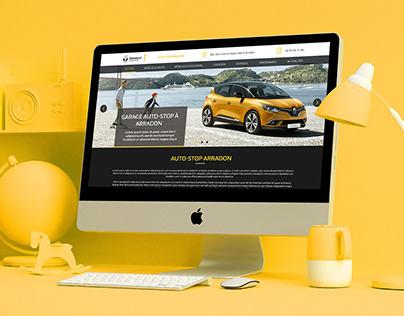 Renault car workshop - Web Design